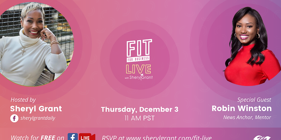 """FIT LIVE! Talking """"Processing News in the Information Age"""" with News Anchor, Robin Winston!"""