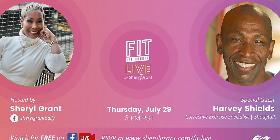 """FIT LIVE! Talking """"Balancing Body, Mind & Energy with Wellness Expert, Harvey Shields!"""