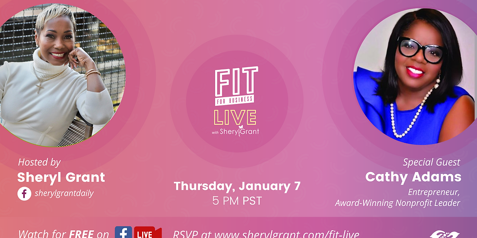 """FIT LIVE! Talking """"Going BIG in the New Era with President & CEO of OAACC, Cathy Adams! (1)"""