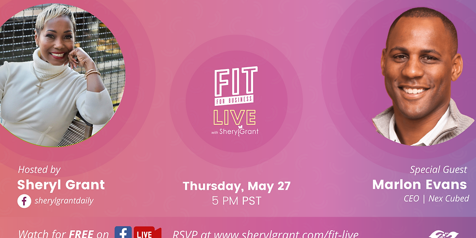 """FIT LIVE! Talking """"The Future of Digital & Financial Health"""" with Marlon Evans!"""