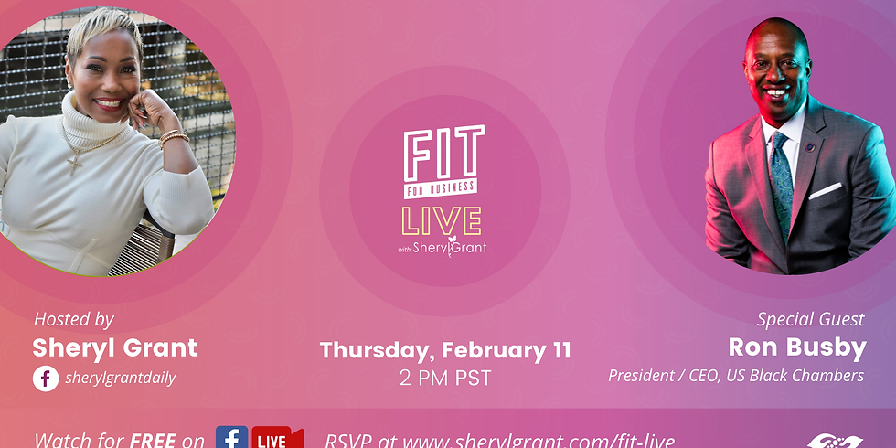 """FIT Live! Talking """"The Power of Black Social Entrepreneurship"""" with Chair of the OAACC, Ron Busby!"""