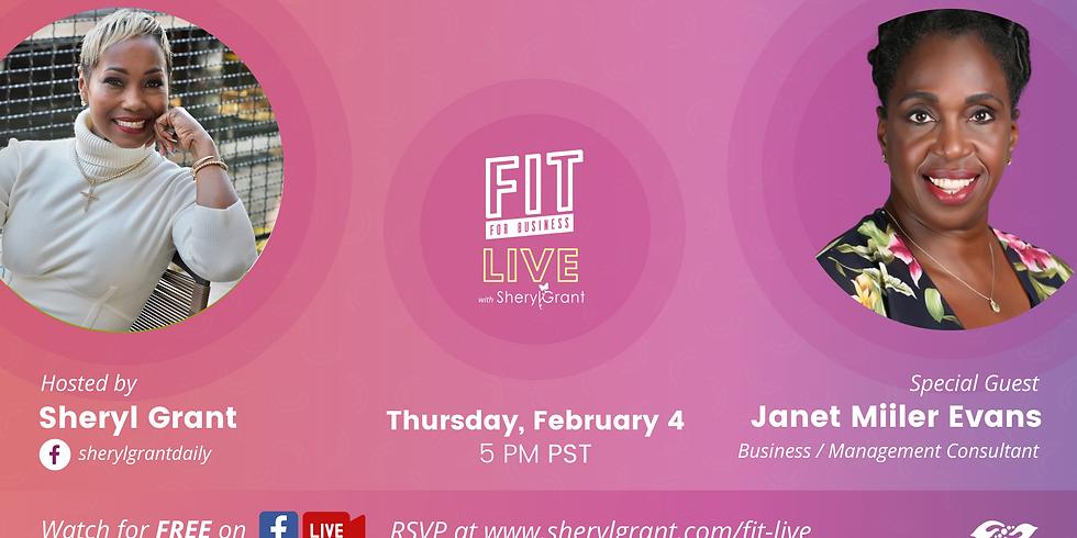 "FIT LIVE! Talking ""Steps to Building Dynamic Teams"" with Janet Miller Evans!"