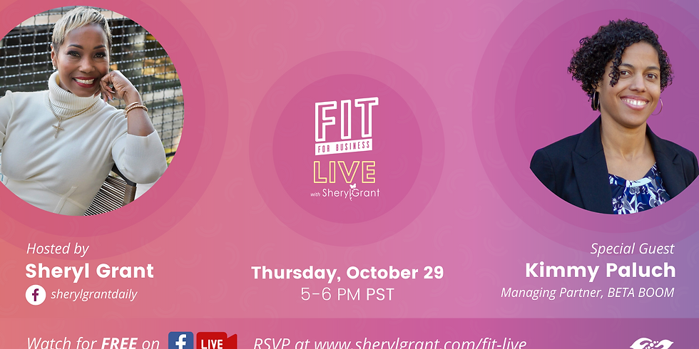 """FIT Live! Talking """"Keys To Becoming a Dynamic Founder"""" with Managing Partner at BETA BOOM, Kimmy Paluch!"""
