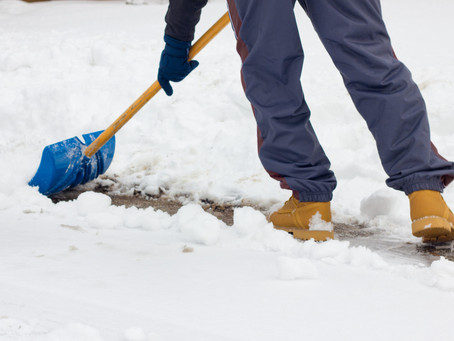 WINTER MEANS SHOVELING … SAFELY!!