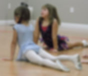 Floor work in a beginning dance class