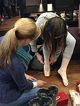 Our knowledgeable professionals attend your first pointe shoe fitting to make certain you purchase the best shoes for your feet.