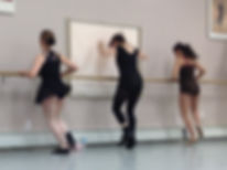 Jazz Students at the barre