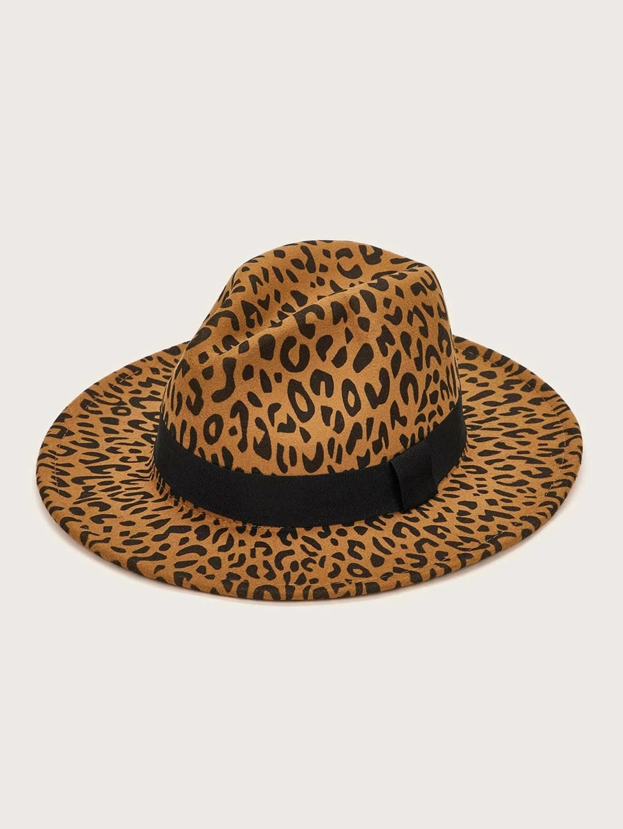 Leopard Floppy Hat One Size
