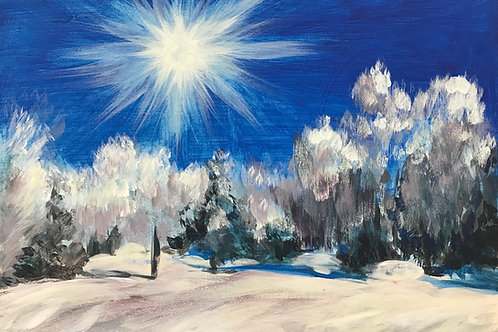 Magical Winter Landscape - Greetings Card