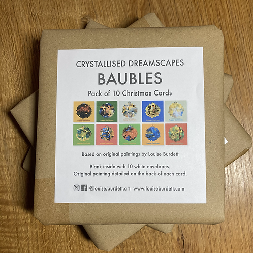 Crystallised Dreamscapes Baubles - Pack of 10 cards