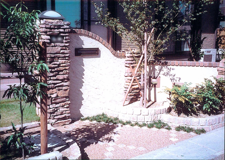 石積み門柱でハイグレードな印象