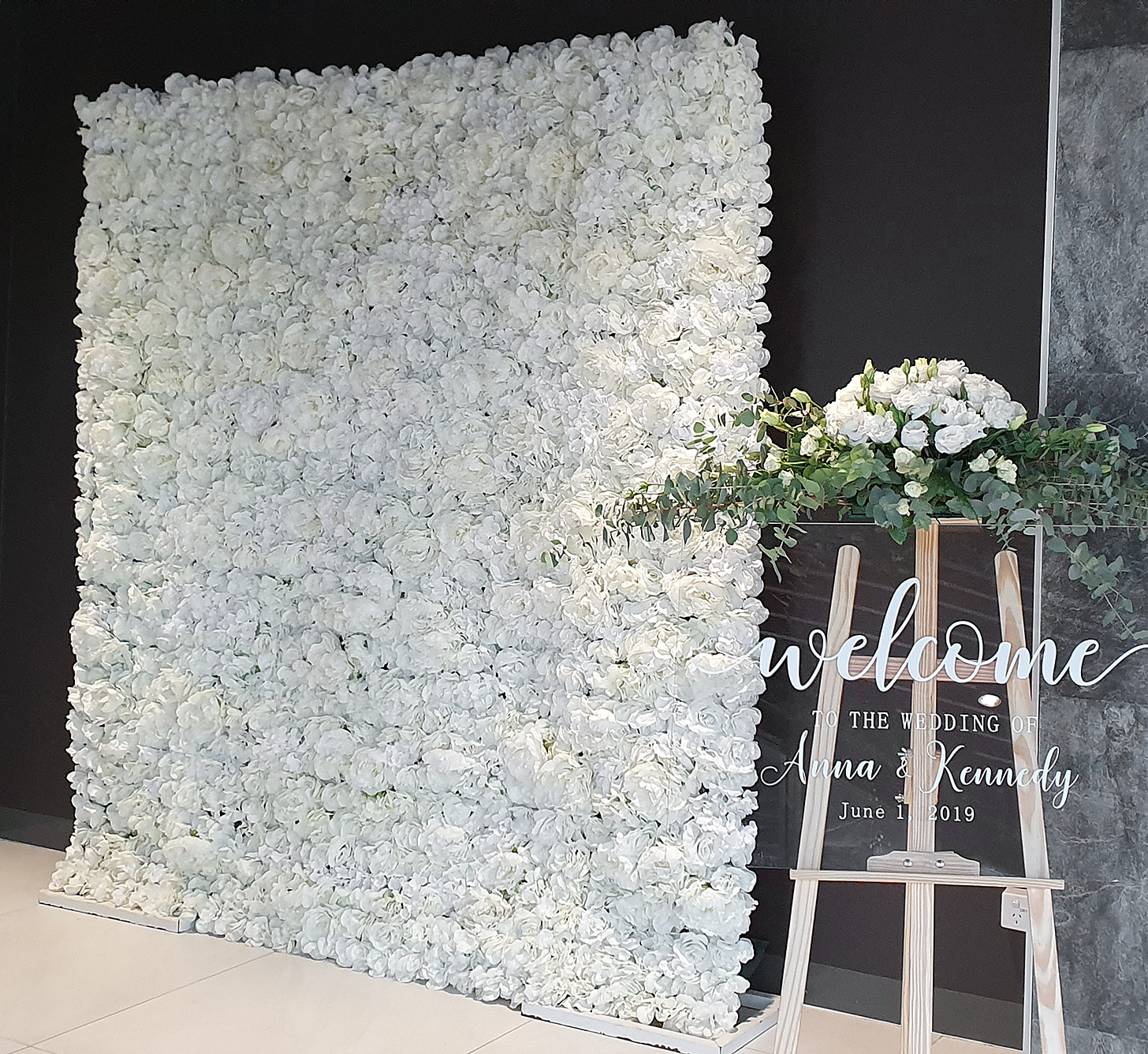 White Flower Wall $185.00
