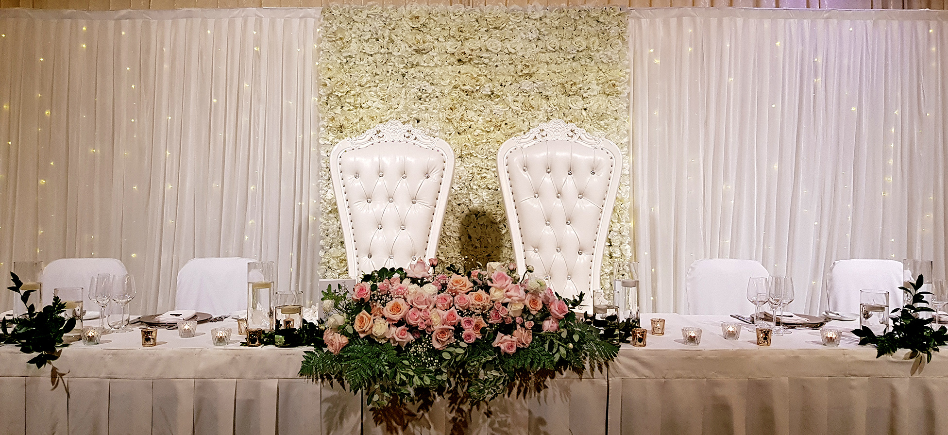 Bridal Table Backdrop $850