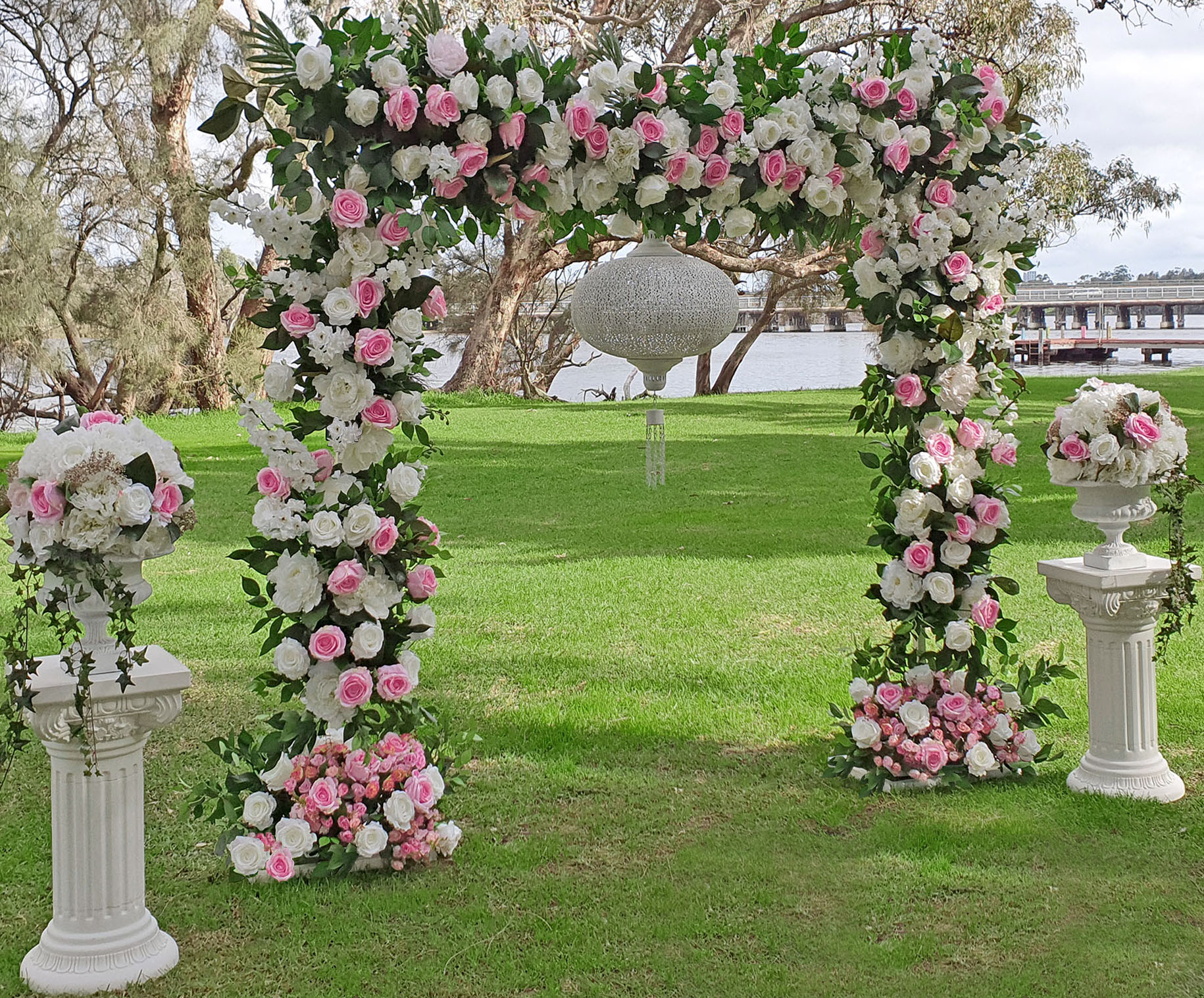 Pink Floral Arch $250