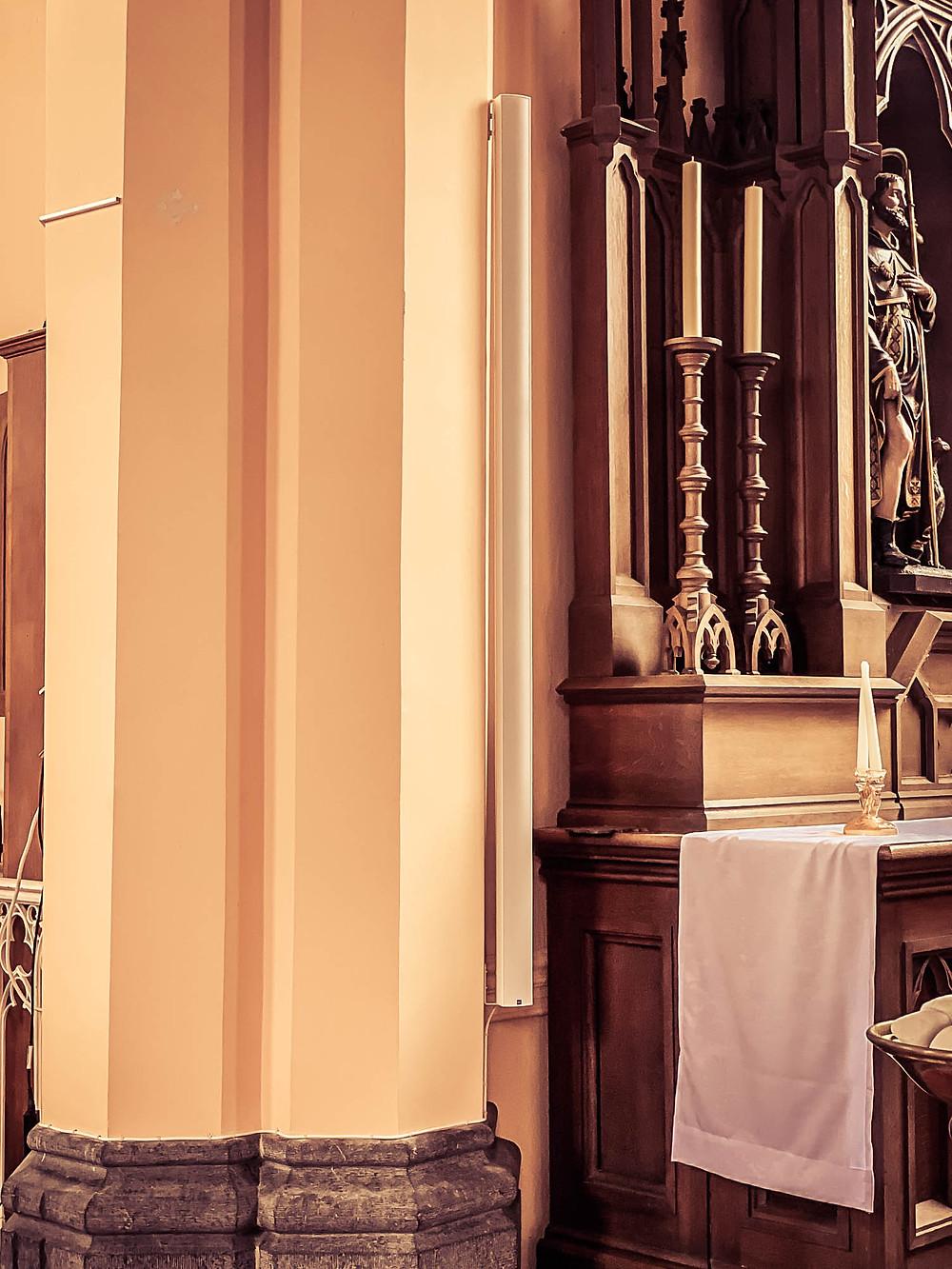 Eglise de Sart-Eustache - Sonorisation d'église par AVTE