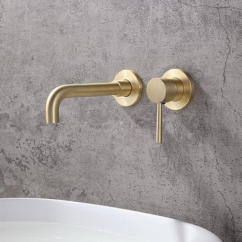 Derwent Brass Wall Mounted Basin Mixer Tap
