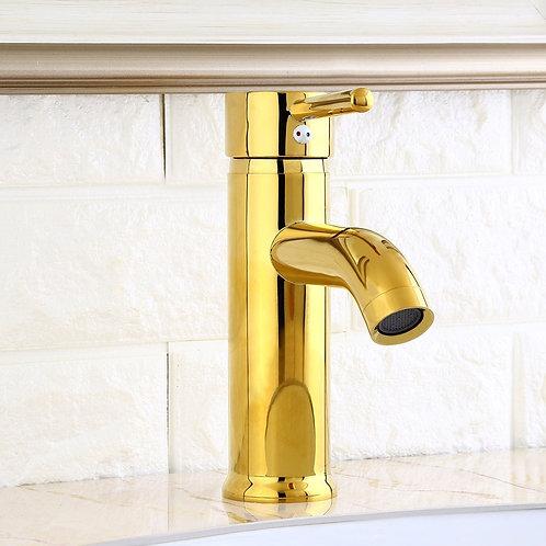Derwent Brass Basin Mixed Tap in Gold