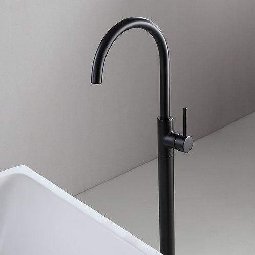 Derwent Matte Black Floor Mounted Bath Mixer Tap