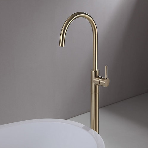 Derwent Brass Floor Mounted Bath Mixer Tap