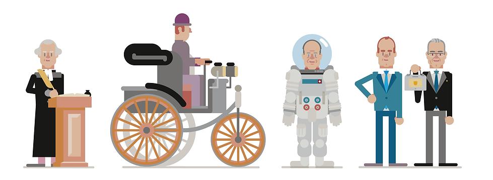 EKSH Characters, Daniel Harisberger illustration Bern