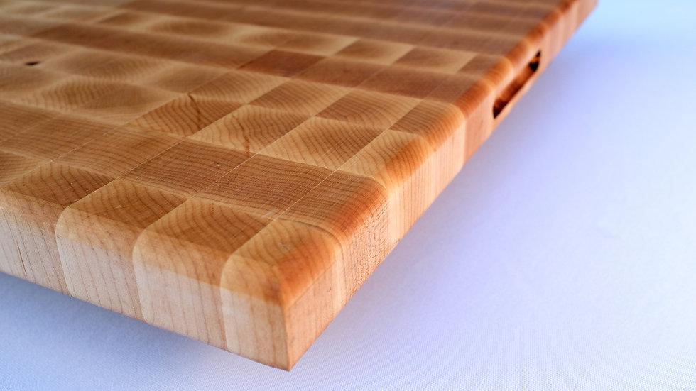 End grain butchers block cutting board maple