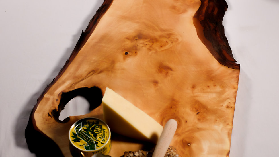 Live edge charcuterie board, table runner, serving platter and cheese bo