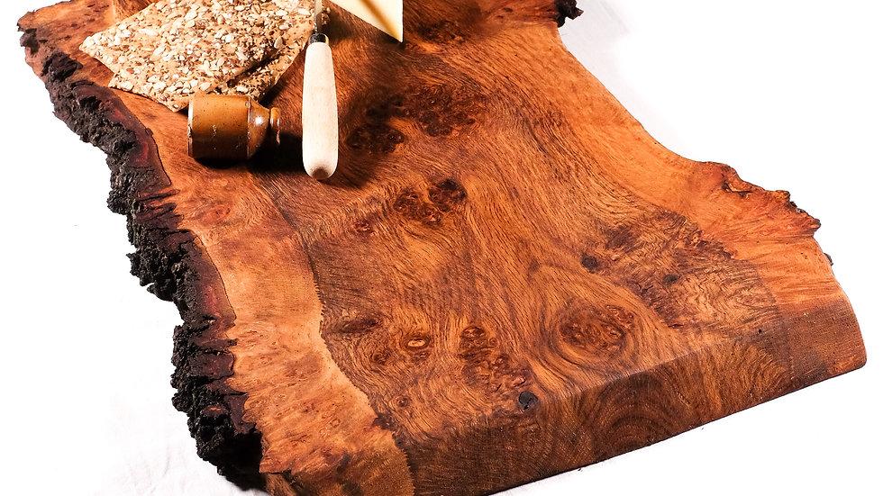 Italian olive wood natural edge charcuterie board