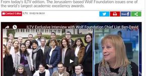 Watch: ILTV interview with Wolf Foundation chief Liat Ben-David