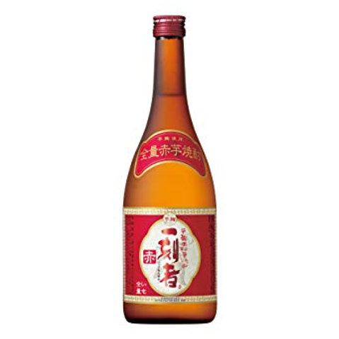 """Takara """"Ikkomon"""" Aka Imo 100% Sweet Potato Honkaku Shochu 25% 全量芋焼酎「一刻者」<赤>"""