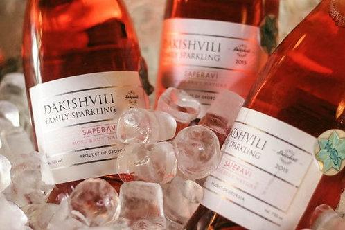 Vita Vinea (Dakishvili Family) Saperavi Rosé Brut Nature Sparkling Wine (75cl)