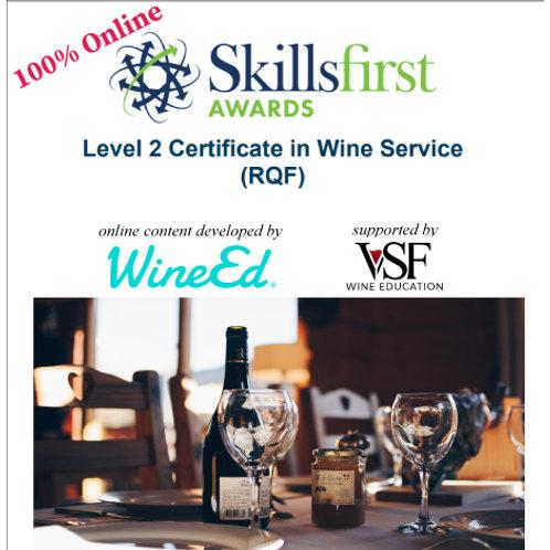 SkillsFirst第二级侍酒证书课程(在线培训)