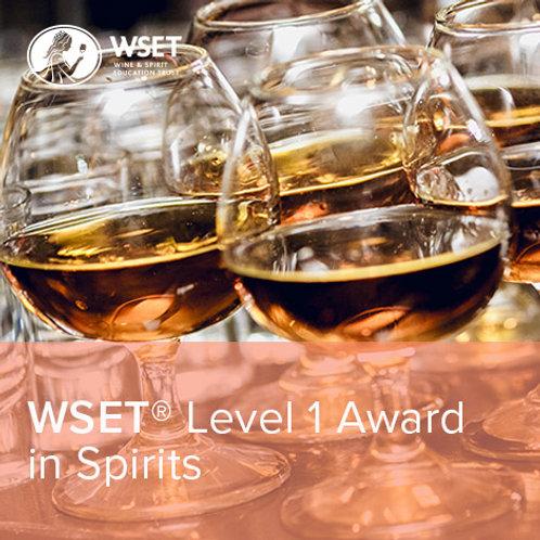 WSET烈酒第一級證書課程(線上授課)