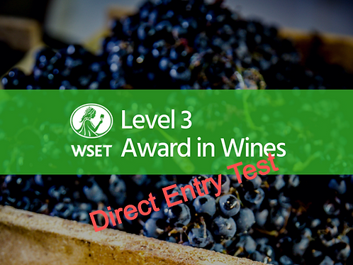 WSET Level 3 Award in Wines - Direct Entry Test