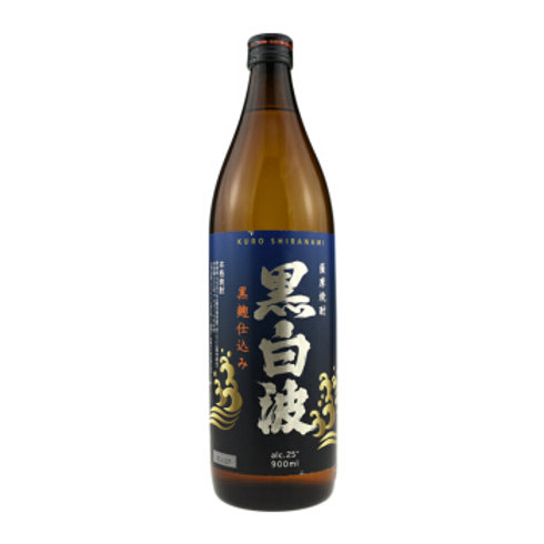 Satsuma Shiranami Kuro-Koji Imo Sweet Potato Shochu 25% 900ml さつま白波黒麹仕込み 芋焼酎