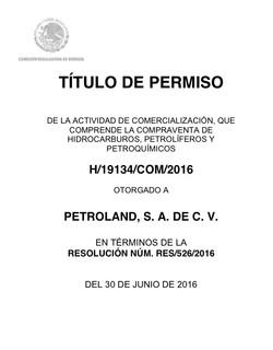 PETROLAND SA DE CV