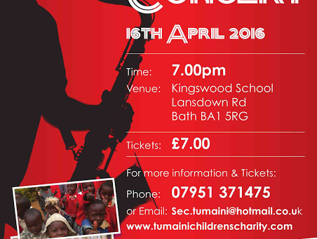 Tickets Available for Tumaini Children's Charity Concert