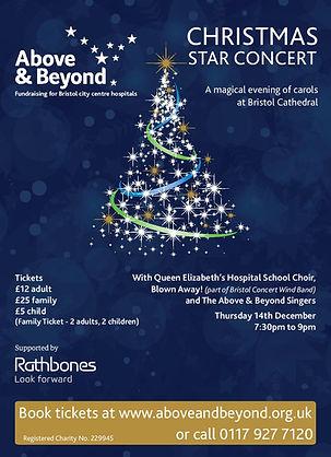 Above and Beyond Christmas Star Poster