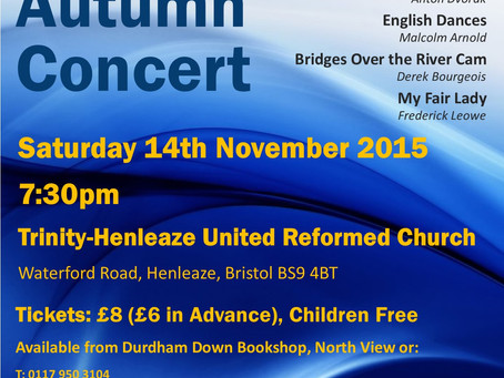 Join Us for our Autumn Concert!
