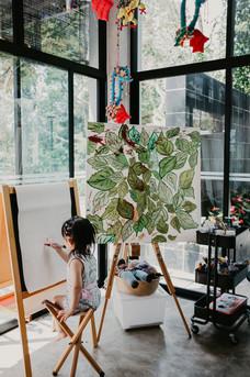 Painting at Villa Nadiah