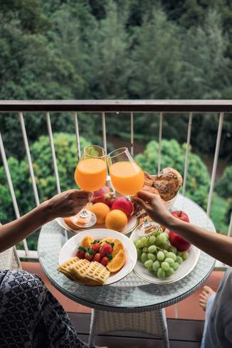 Sky Villa, Breakfast