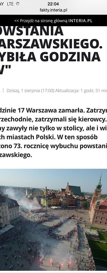 Żywy Znak dla Powstania Warszawskiego 2017 w mediach