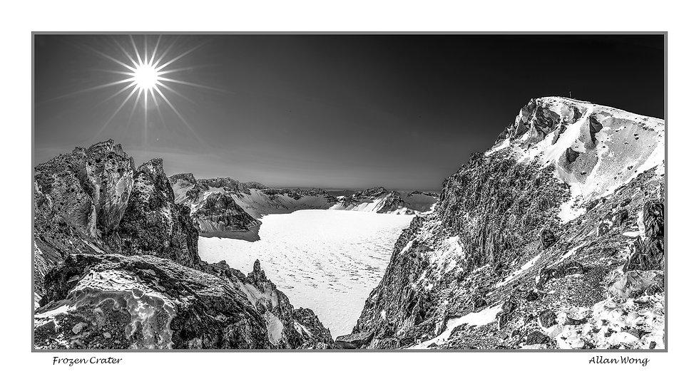 Frozen crater