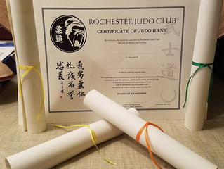 Fall Promotions! - How adult ranking works at Rochester Judo