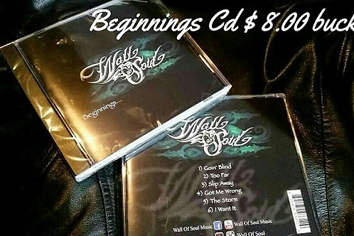 "Wall of Soul ""Beginnings"" Ep CD"