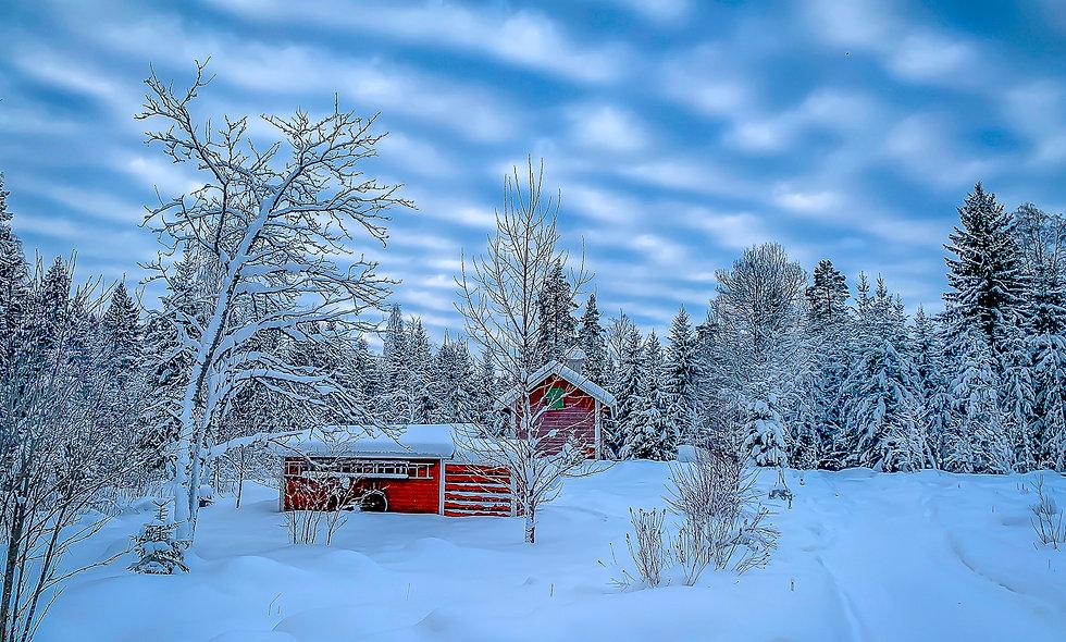 A winter scene in Flängan, Sweden