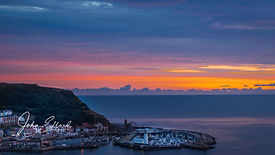 Scarborough harbour just before dawn.jpg