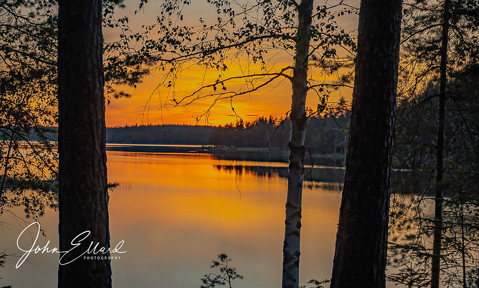 Sunset at Lake Ungen, Norberg, Sweden