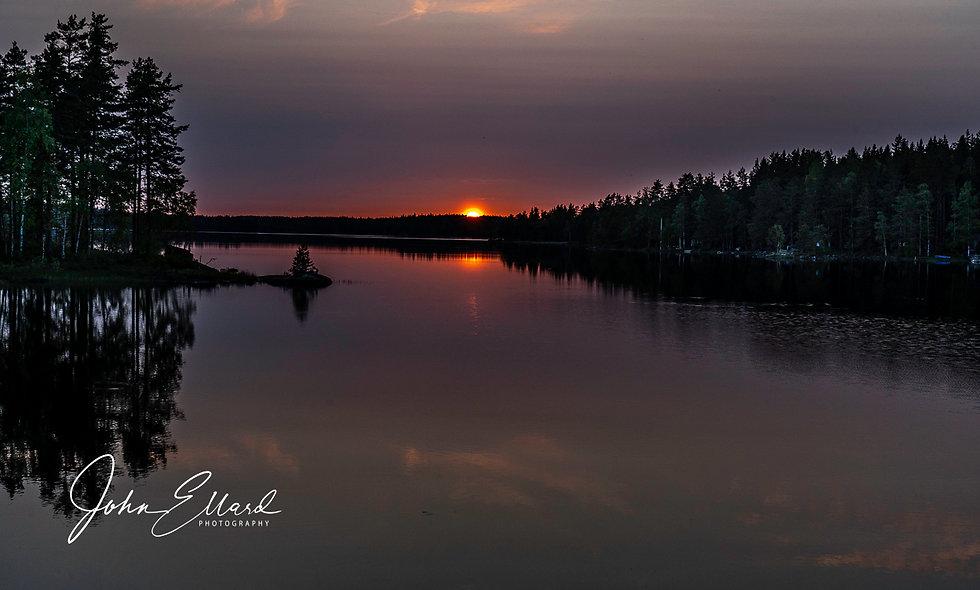 Lake Ungen, Sunset