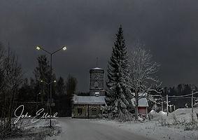Klackberg, Norberg, Sweden in early wint