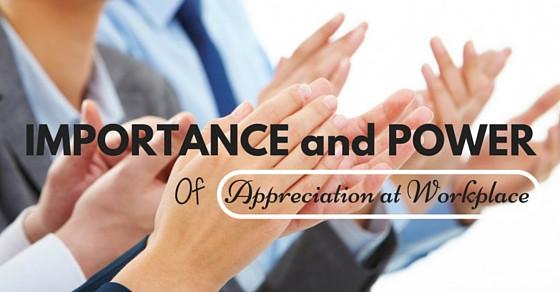 Give appreciation